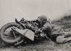 HD1 Harley Davidson WW2 Gunner VINTAGE Motorcycle Reprint Pic Photo $9.77 USD on eBay