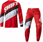 NEW 2017 SHIFT RACING WHITE LABEL TARMAC GEAR COMBO DIRT BIKE RED ALL SIZES