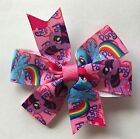 MY LITTLE PONY PINK AND BLUE PINWHEEL BOW HAIR CLIP