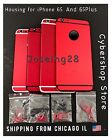 RED Back Housing Cover  Mid Frame Assembly Replacement For iPhone 6s  6s Plus