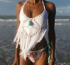 Crochet Bralet Top 12 Bralette knitted Bikini and festival Top. SMALL SIZE ONLY