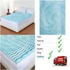 3 Inch Cooling Gel Foam Mattress Topper Pad Bed Size Twin XL Full Queen or King