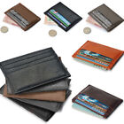 small leather case - Leather Men's Womens Small Id Credit Card Wallet Holder Slim Pocket Case Purse