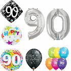 Age 90 - Happy 90th Birthday Qualatex Balloons {Helium Party Balloons Boy/Girl}