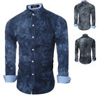 "Stylish Men""s Slim Fit Shirt Long Sleeve Dress Shirts Casual Shirt Tops Autumn"