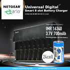 Netgear Arlo Camera Rechargeable Battery CR123a & Charger Kit by 8 Slot charger