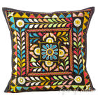 """16"""" Black Patchwork Decorative Cushion Couch Pillow Throw Cover Bohemian Indian"""