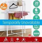 Electric Heated Clothes Rack Horse Rail Hanger Laundry Air Dryer 200W 2-Tier New