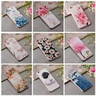 Fashion Flower Embossing Painting Soft TPU Case Cover For iPhone 6 6Plus 7 7Plus