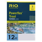 Rio Trout Powerflex 3 Pack 12 FT Tapered Leaders 3x 4x 5x 6x Free Fast Shipping