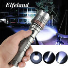 Elfeland 20000LM Taktisch T6 LED Rechargeable Zoomable Flashlight Taschenlampe