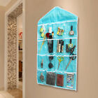 16 Pockets Clear Hanging Bag Over Door Hanger Wardrobe Storage Organizer 78*42cm