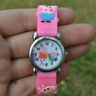 Children 3D Cartoon Students Anime Pepa Pig Casual Quartz Wrist Watch Lovely