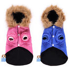 Внешний вид - Pet Dog Winter Warm Apparel Clothes Dog Hoodie Jacket Puppy Down Coat Blue Rosy