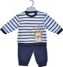 Baby Boys 2-Piece Fleece Outfit - Navy (0-9 Months)