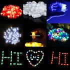 50PCS/ Pack LED Lights Balloons Paper Lantern Lighting Party Birthday N98B