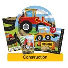 CONSTRUCTION PARTY RANGE (Party Tableware, Banners, Balloons & Decorations) UQ