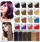 US STOCK PU Skin Weft Tape in Ombre Seamless 100% Remy Human Hair Extensions 8A
