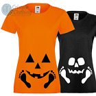 Funny Halloween T-Shirt for Pregnant Ladies Baby Pumpkin or Skeleton