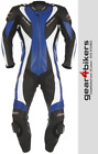 RST Tractech Evo 1003 One Piece BLUE Motorcycle Leather Suit Track Sport Race 1