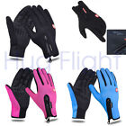 Windproof Gloves Waterproof Warm Outdoor Mittens for Phone Touch Screen Cycling