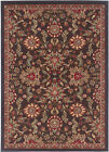 Gray Traditional Oriental Border Floral Area Rug Multi-Color Leaf Persian Carpet
