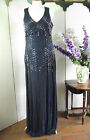 A STAR IS BORN MESH BLUE BEAD EVENING GOWN DRESS SIZE 8 10 12 14 16 18 BNWT X