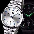 Fashion Men's Quartz Luminous Analog Stainless Steel Date Waterproof Wrist Watch