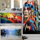 Внешний вид - Modern Abstract Oil Painting Canvas Wall Art Poster Print Picture Home Decor
