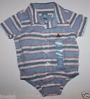 baby Gap NWT Boy's 100% Cotton Striped Button Down Shirt Bodysuit