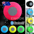 Waterproof Wireless Car Bluetooth Shower Music Speaker Handsfree MIC Suction NEW