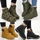 Womens Ladies Combat Army Boots Military Grip Hiking Walking Lace Up Shoes Comfy
