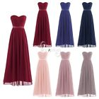 Women Lady Long Evening Wedding Bridesmaid Chiffon Off-shoulder Dress Prom Gown