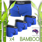 Mens Underwear - 4 Pack Men's Bamboo Boxer Briefs - ( Blue - Size: Extra Large)