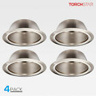 6 Inch Recessed Can Light Trim with Satin Nickel, Detachable Iron Ring Included
