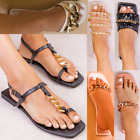 Womens Ladies Furry Slides Fluffy Sandals Summer Slides Comfy Slippers Mule Size