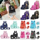 3Pcs Women Girls Travel Canvas Rucksack Backpack Tote School Shoulder Bag Gifts