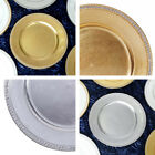 """ROUND CHARGER PLATES 6 pcs 13"""" Crystal Beaded Wedding Party TABLEWARE Supplies"""