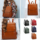 Fashion Women Lady PU Leather Backpack Shoulder Bag Rucksack School Travel Bag