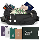 Rfid Blocking Travel Money Belt - Waterproof Security Waist Wallet Passport Bag