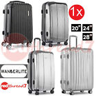 "Luggage Suitcase 1pc Solo 20"" 28"" Trolley 4 Wheel ABS TSA Travel Bag Hard Case"