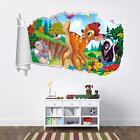 Bambi Disney 3d Torn Hole Ripped Wall Sticker Home Decor Decal Art Mural Wt38