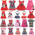 Girls Baby Mickey Mouse Mini Dress Sleeveless Tutu Casual Party Dress for 0-7 Y