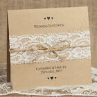 Rustic / Shabby Chic Wedding Invitation with Vintage Lace & Twine - Sample