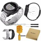 For Garmin Fenix 3 / HR Stainless Steel Strap Replacement Wrist Watch Band +Tool