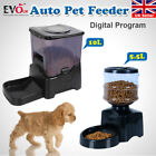 Automatic Pet Feeder Auto Program Digital Cat Dog Food Bowl Dispenser LCD UK