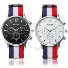 Mens Women Canvas Sports Quartz Analog Watch Alloy Pilot Aviator Wrist Watches