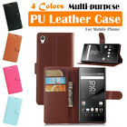 Sony Xperia Z5 Leather Case PSC Multi-purpose Cover Skin Wallet Card Pouch Stand