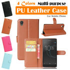 Sony Xperia L1 Leather Case PSC Multi-purpose Cover Skin Wallet Card Stand Folio