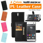 Sony Xperia C5 Ultra Leather Case PSC Cover Skin Wallet Card Pouch Stand Folio